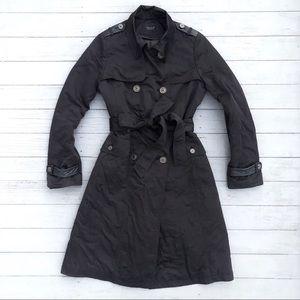 "UO Urban Renewal ""Jackie"" Black Trench Coat M"